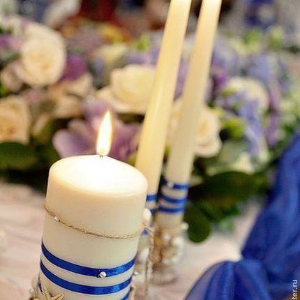 Свадебные свечи в морском стиле