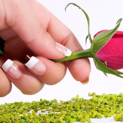 Наращивание ногтей белый френч акрилом