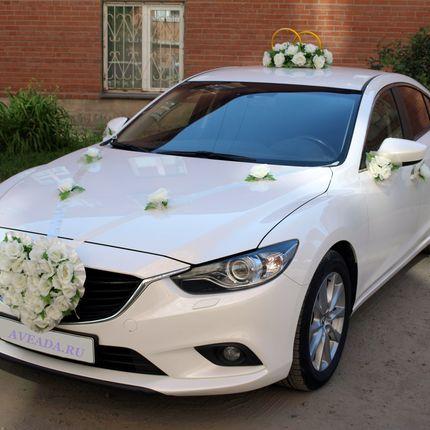 """Комлект украшений на авто """"Белые розы"""""""