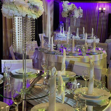 Декор столов зеркалами, 1 стол