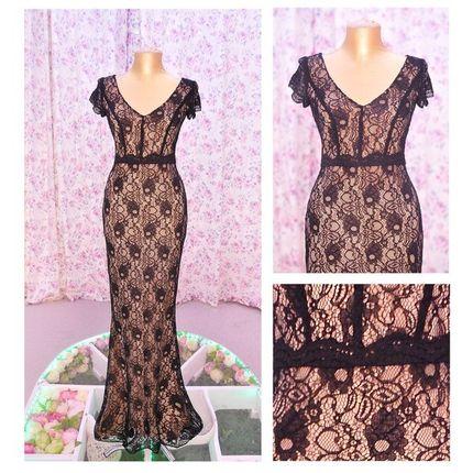 Вечернее платье кружевное