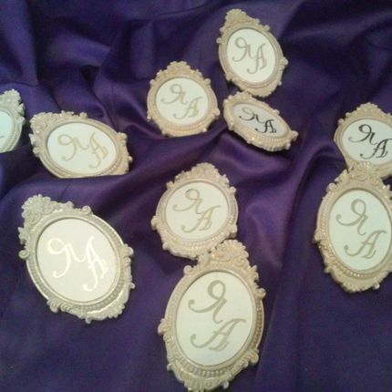 Винтажные рамочки для декорирования свечей