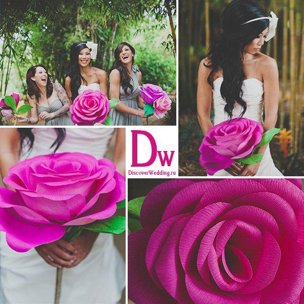 Как сделать большие цветы на свадьбу своими руками 31