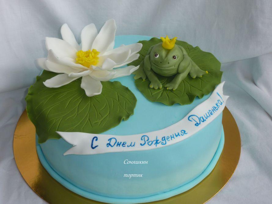 торт с кувшинками фото