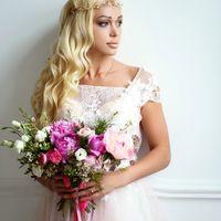 """Свадебное украшение для волос, ободок """"Екатерина"""", ручная работа.  Бусины хрустальные, металлическая фурнитура, чешский бисер, ювелирная проволока с антиокислительным покрытием. Размер украшения в длину: 40 см."""