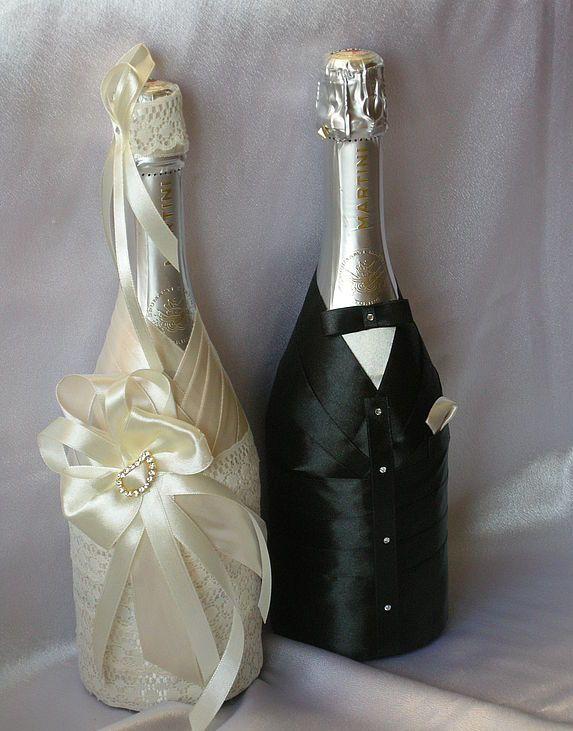 Оформление лентой шампанское своими руками мастер