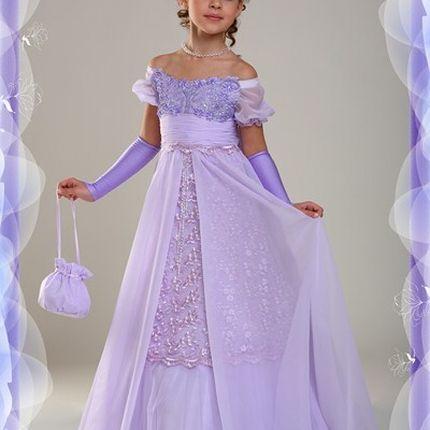 Свадебное детское платье