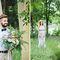 свадьба для двоих, свадьба в стиле ботаник, выездная регистрация, церемония на природе