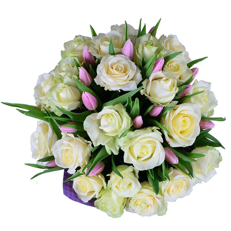 букеты из роз и тюльпанов картинки фото