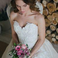 Нежный минибукет невесты в розово-белых тонах