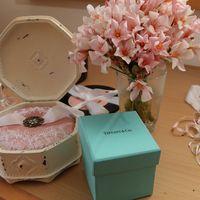 """Подушечка для колец, букет невесты и декор для свадьбы в стиле """"Завтрак у Тиффани"""""""