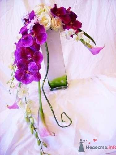 Букет из орхидей и калл - фото 725 Флорист-дизайнер Екатерина