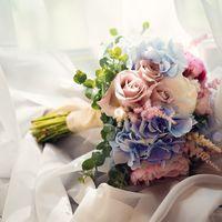Летний букет из пионов, роз и гортензий от 6000 руб