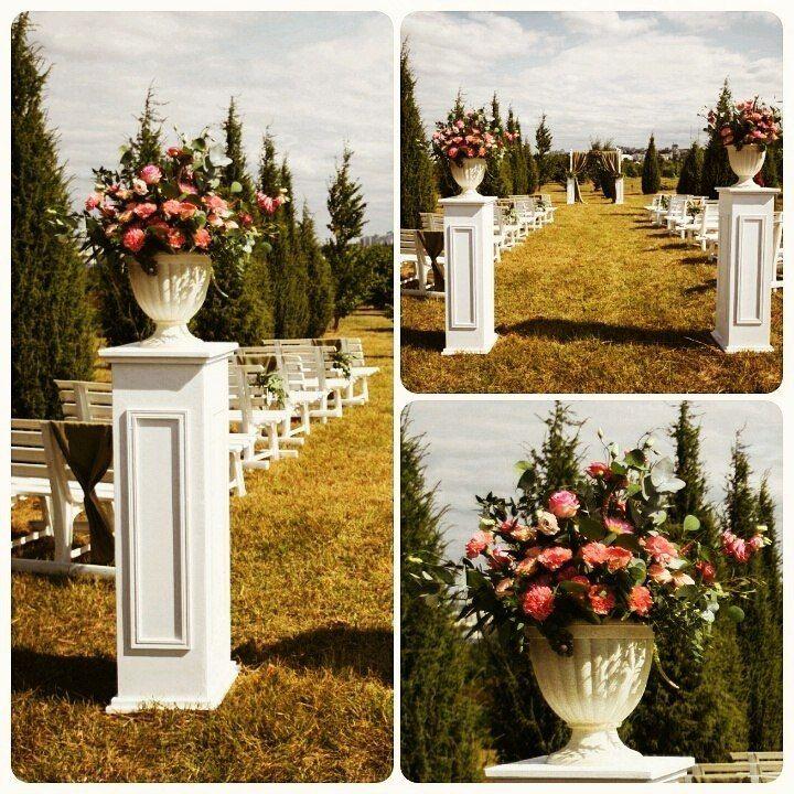 Колонны из цветов своими руками 340