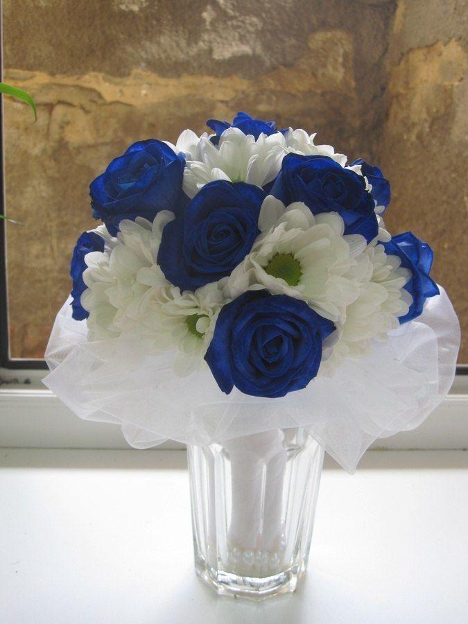 Букет из синих роз и белых ромашек фото, доставка цветов телефон