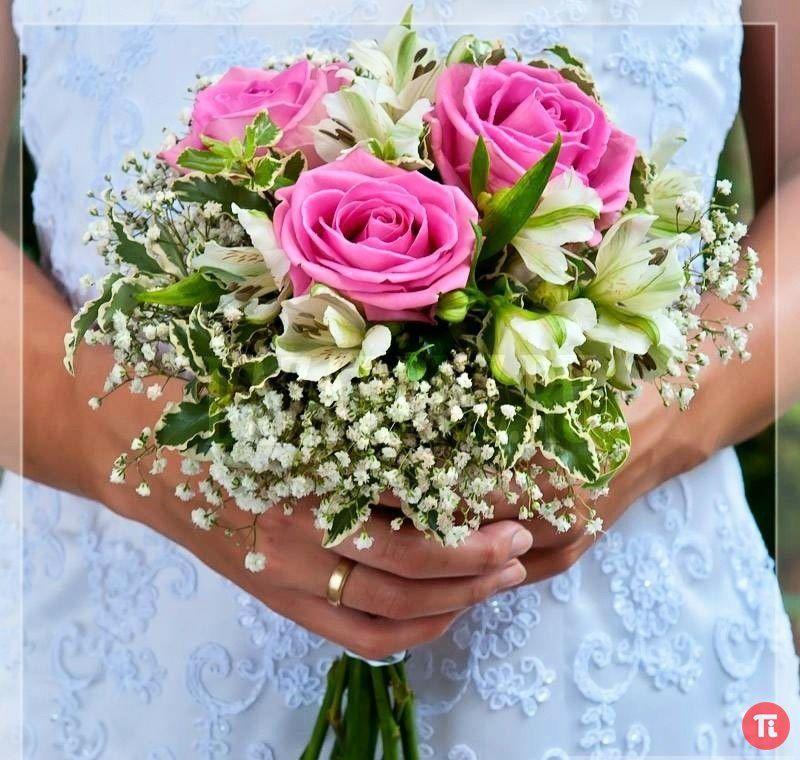 Красивый простой свадебный букет фото, сделать