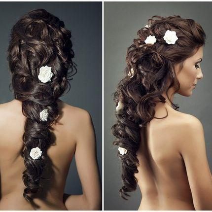 Прическа свадебная длинные волосы