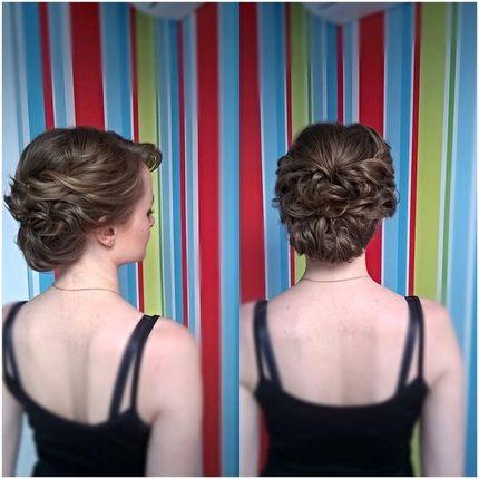 Прическа средние волосы