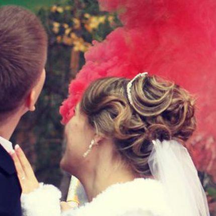 Свадебная прическа средние волосы