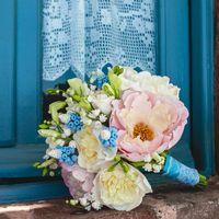 Букет невесты с пионами из полимерной глины