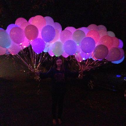 Светящиеся шары RGB
