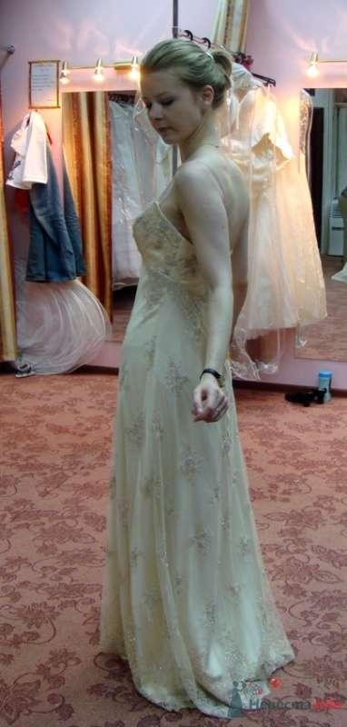 Платье №4, крем, сбоку - фото 26570 malysh_eva