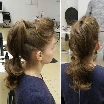 Вечерняя причёска