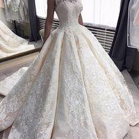 Королевское платье со шлейфом