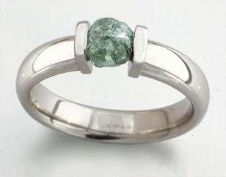 платина, зеленый бриллиант - фото 6456230 Национальный ювелирный дом