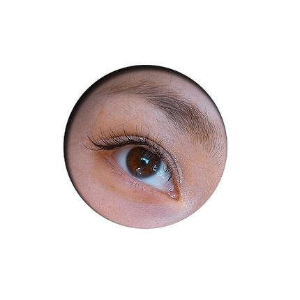 Наращивание ресниц - уголки глаз, пореснично