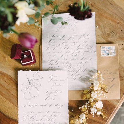 Приглашение на свадьбу каллиграфией
