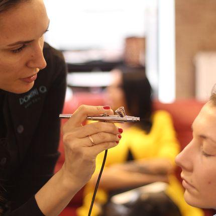 Репетиция аэромакияж и причёска