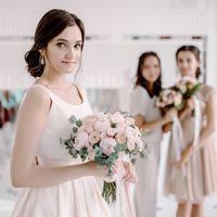 свадьба, подружки невесты, невеста, белый