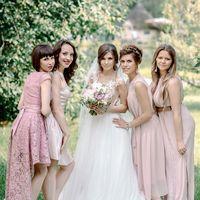 свадьба, дворянское гнездо, фотосессия, фотограф, розовый, белый, невеста, подружки невесты