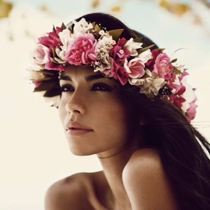 Веноки на голову из живых цветов