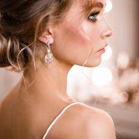 Свадебный пучок на средние волосы Украшение ручной работы в прическу. Свадебные серьги ручной работы