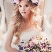 Букет невесты в сиреневых оттенках