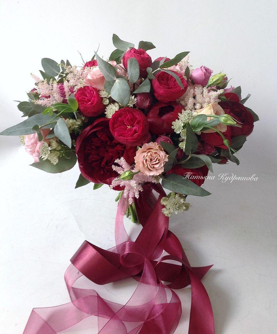 Букет невесты из пионовидных роз - фото 18457956 Цветочная мастерская Татьяны Кудряшовой