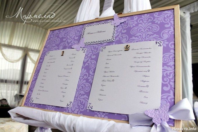 Свадебная рассадка своими руками