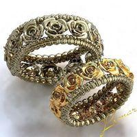 Пара колец из комбинированного золота