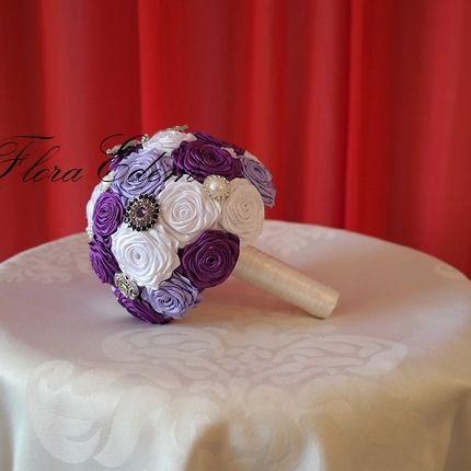 Букет невесты из атласных лент. Ручная работа