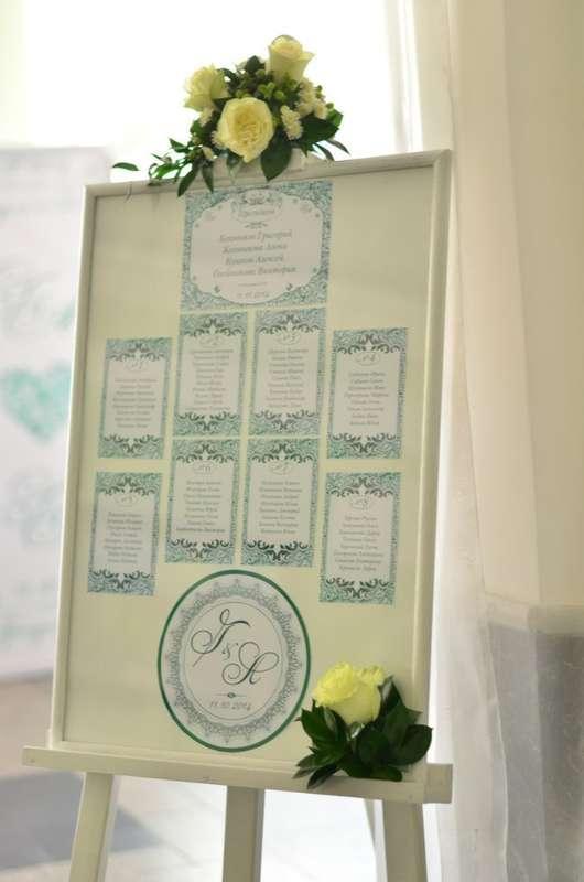 План рассадки гостей. - фото 7402788 Оформление свадеб Flor de Liz