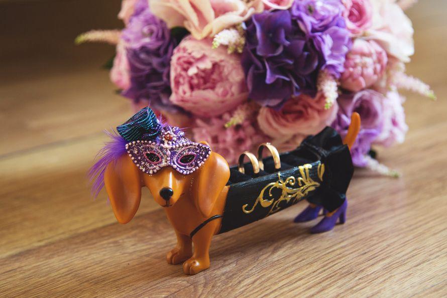 кольца, пионы, подушечка для колец, розовый, фиолетовый - фото 5883716 Фото и видеосъёмка Fevish studio