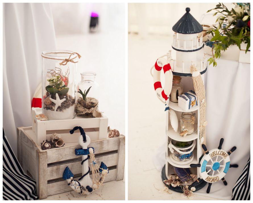 морская тема, морская свадьба, свадьба у воды, свадьба в шатре, декор, оформление, полоска, синий, морская звезда, cote d'azur, президиум, маяк, якорь, яхта - фото 15539682 Фото и видеосъёмка Fevish studio