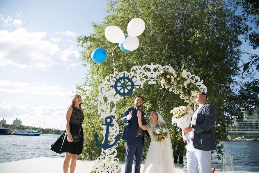 морская тема, морская свадьба, свадьба у воды, выездная регистрация, арка, синий - фото 15539718 Фото и видеосъёмка Fevish studio