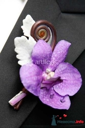Бутоньерка жениха - фото 117460 Art Floris - комплексное оформление