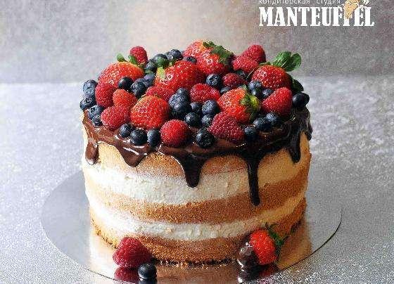Как украсить сверху торт