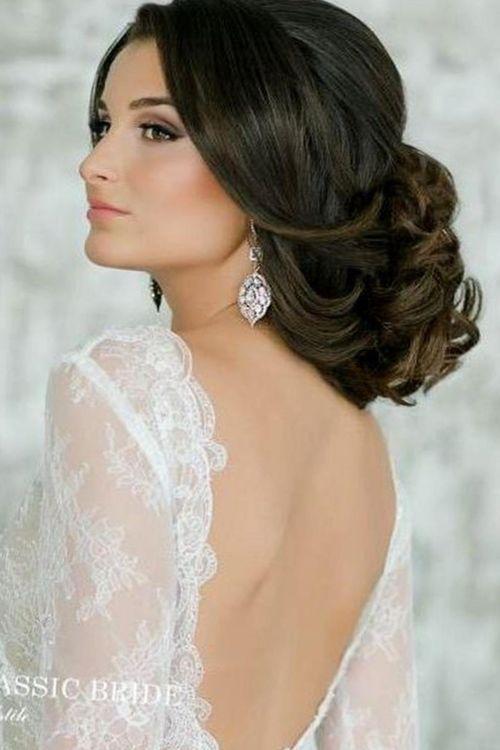 Прически свадебные длинные волосы без челки