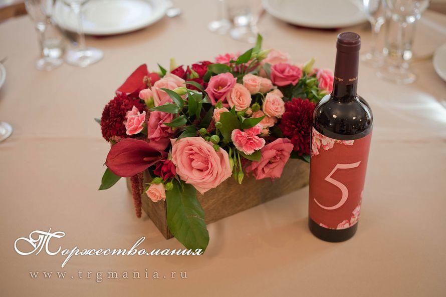 цветы в ящичках на столах гостей - фото 7509036 Студия декора и флористики Торжествомания