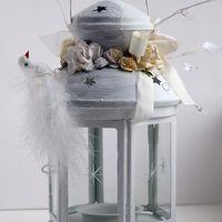 Свадебный шебби-фонарик